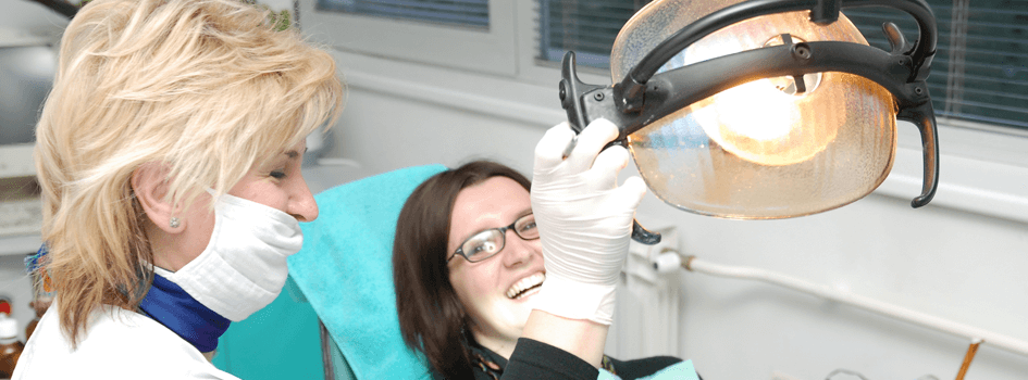 Waterloo Dentist - Erbsville Dental - Dentist and her patient