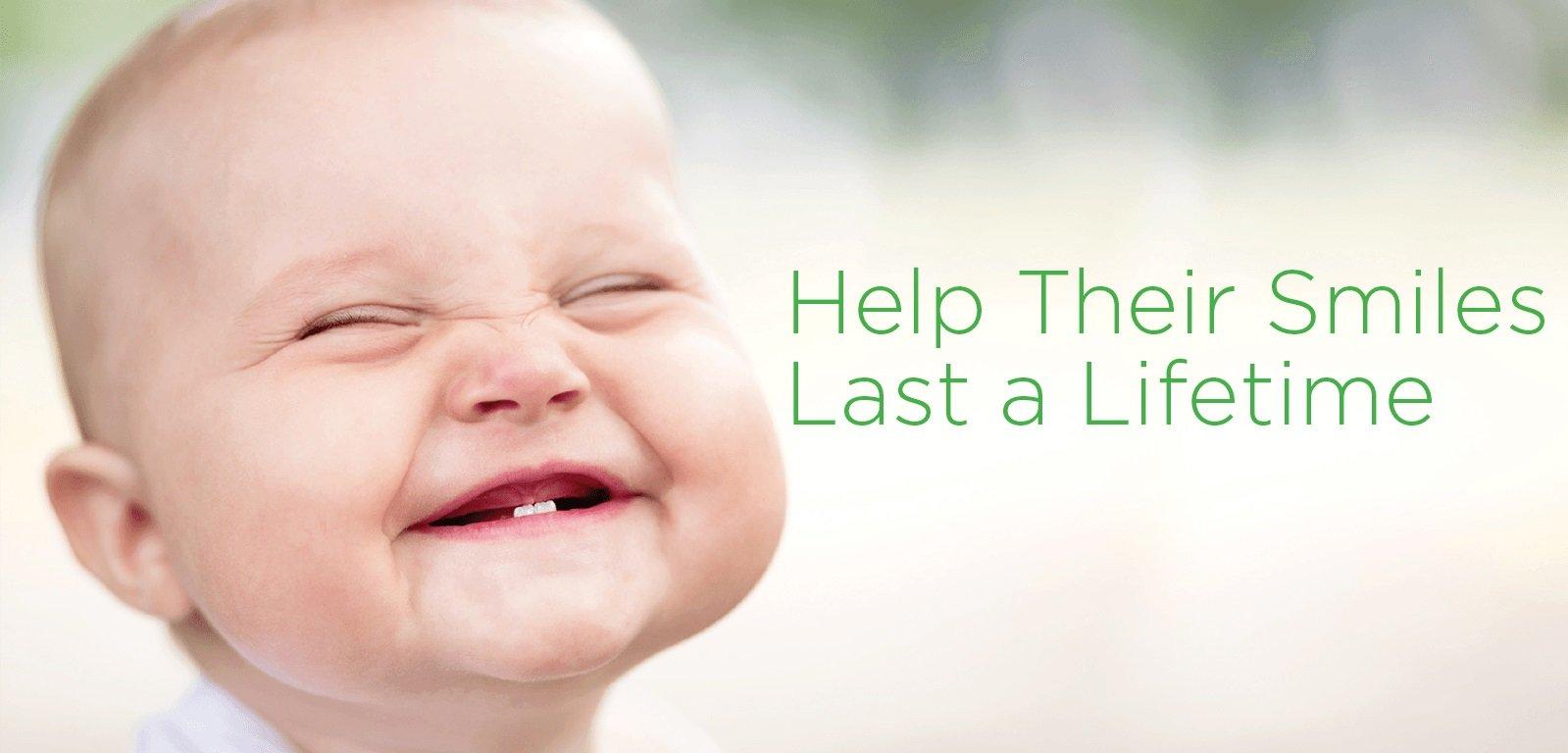 Waterloo Dentist - Erbsville Dental - A baby smiling